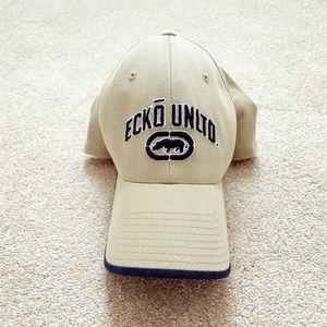 Beige & navy blue Ecko Unltd. hat